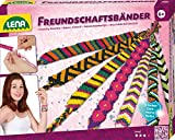 Lena 42689 - Bastelset Freundschaftsbänder knüpfen groß, Komplettset mit 13 farbigen Knüpfgarnen...
