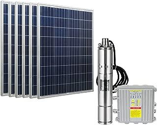 ECO LLC DC 36V Solar Screw Pump Kit 3'' Deep Well Submersible Pump +600W Poly Solar Panels + MPPT Controller