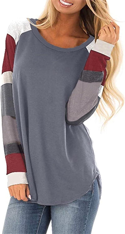 POLLYANNA KEONG Women Long Sleeve Tshirt,Women's Teen Girls Cute Graphic Casual Crewneck Sweatshirts Top Tunic Blouses