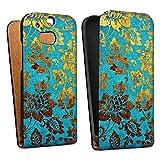 DeinDesign HTC One M8s Tasche Hülle Flip Hülle Flowers Blumen Muster