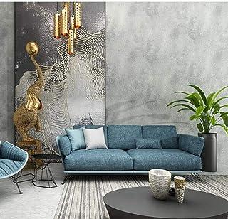 negro 10mx53cm-A2 Papel pintado liso met/álico retro de color s/ólido para paredes Cemento en rollo Papel de pared industrial de hormig/ón rojo dorado verde gris azul
