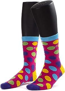 Calcetines con diseño de puntos de cruz coloridos
