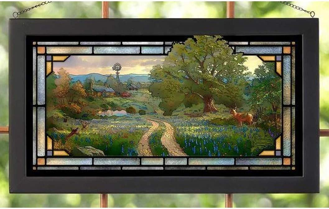 Wild Wings 5386600402 Direct store Stained Glass 23-inch Width Popular popular Art Country