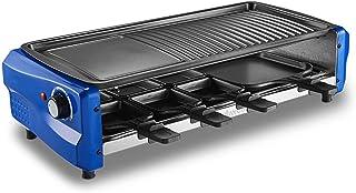 Electric Raclette Grill 2 4 8 Personnes Smokeless Party Grill Électrique Avec Surface De Cuisson Antiadhésive,Double Couch...