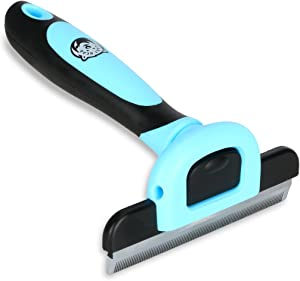 Cary Bear Grooming Brush and Deshedding Tool for Dog and Cat with Short to Long Hair - Large Comb Efficiently Remove Loose Hair and Reduce Shedding for Small Medium & Large Pet