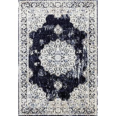 4678 Distressed Navy 5 x 7 Area Rug Carpet Large New