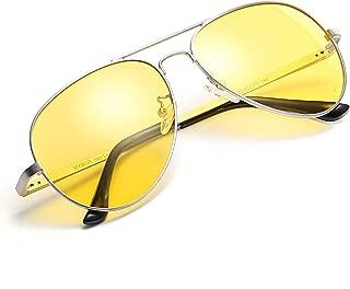Myiaur Night Driving Glasses, HD Vision Yellow Glasses, for Fashion Men & Women - Polarized Lens Anti Glare