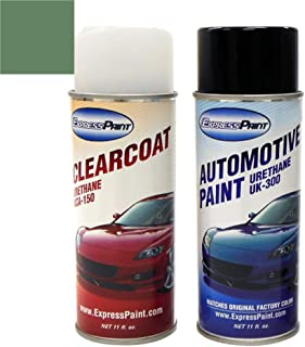 ExpressPaint Aerosol - Automotive Touch-up Paint for Ford Explorer - Estate Green Metallic Clearcoat ST/M6918 - Color + Clearcoat Package