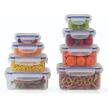Plastic Food Storage Containers 16 Piece Set, Leak Proof, Meal Prep, Little Big Box by Popit!