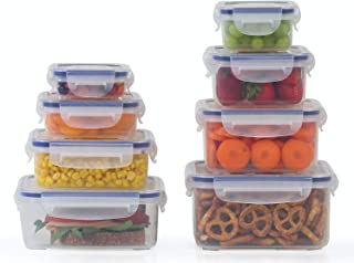 Plastic Food Storage Containers 16 Piece Set, Leak Proof, Kitchen Meal Prep, Microwavable, Freezer and Dishwasher Safe Portion Control - Little Big Box, by Popit