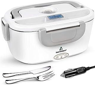 TRAVELISIMO Lunch Box Gamelle Chauffante Électrique pour Camion 24V, Chauffe en Quelques Minutes, Acier Inoxydable 1.5L 40...