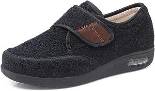 B/H Pantofole Comfort Regolabili,Scarpe per Piedi diabetici di Grandi Dimensioni, Scarpe Regolabili per anziani-34_Nero,Pa...