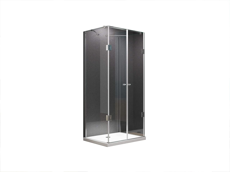 U Form Duschkabine Dusche Emma 90 x 75 x 180 cm   8mm   ohne Duschtasse