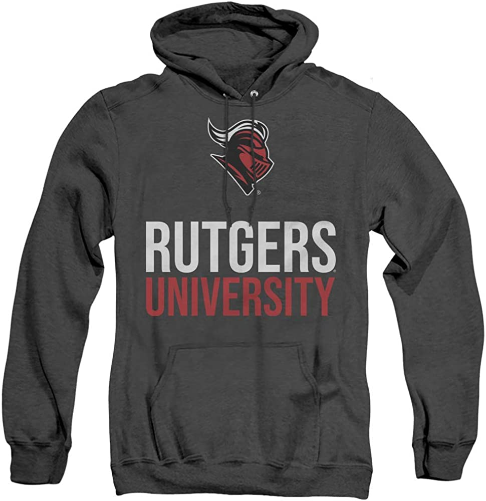 Rutgers trust University Official Max 41% OFF Stacked Unisex Adult Hoodi Pull-Over