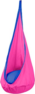 Driftsun Hammock Pod Kids Swing/Outdoor and Indoor Children's Hammock Chair Nook Sensory Seat - Hardware Included (Pink)