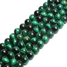Natural Green Tiger Eye Gemstone Round Loose Beads for Jewelry Making Findings Accessories 1 Strand 15 inches (8mm)