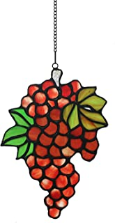 Alivagar Stained Glass Window Hangings Vine Grape Suncatchers, 7