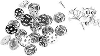 Kofun Spilla di Spilla, 20 Pezzi Fai da Te Spilla Rotonda Fermagli Pin Cravatta Chiodi Vuoti con Frizione Posteriore Nastro