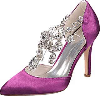 Vimedea Womens Evening Shoe Pointy Toe Dress Wedding Heeled Pumps Party Slip On 0608-22
