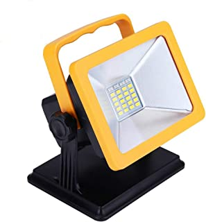 OYOCO Rechargeable LED Work Light with Magnetic Base 15W 6.5H Lighting Battery Powered Waterproof Spotlights Outdoor Camping Emergency Lights Floodlights with SOS Mode ( Yellow with magnetic base)