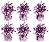 MEGA WERTVOLL 6 x Hot Pink Helium Folienballon Gewichte Ideal Party Dekoration Zubehör