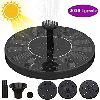 Aytai Solar Fountain, Solar Powered Fountain Pump for Bird Bath Solar Bird Bath Fountain Pump with 4 Nozzles, Solar Powered Water Fountain Pump for Bird Bath, Garden, Pond, Patio, Pool, Outdoor