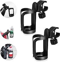 Flaschenhalter Fahrrad, 2 Pack Fahrrad Flaschenhalter,360 Grad Rotation Getränk Wasser Becherhalter Schnellverschluss für Fahrräder, Mountainbikes, Kinderwagen und Rollstuh