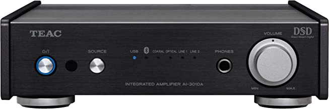 TEAC AI301DAXB Bluetooth Integrated Stereo Amplifier with USB DAC (Black)