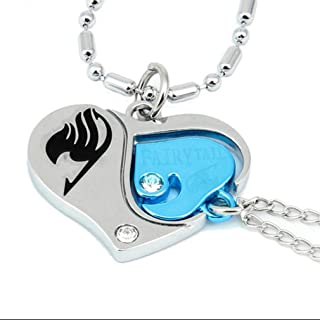 Cos-me Fairy Tail Cosplay Lovers Heart Necklace Pendant Accessories