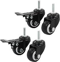 2/piezas Sourcingmap/ /Tono De Plata /a16042100ux0530/38/mm de di/ámetro sola rueda giratoria Top soporte de placa giratoria Caster/