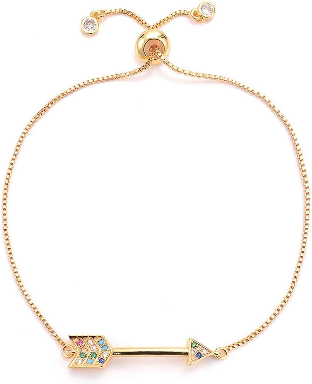 Don't miss Miami Mall the campaign Women's Fashion Arrow Charm Bracelet Color Men's Platinum Adjust