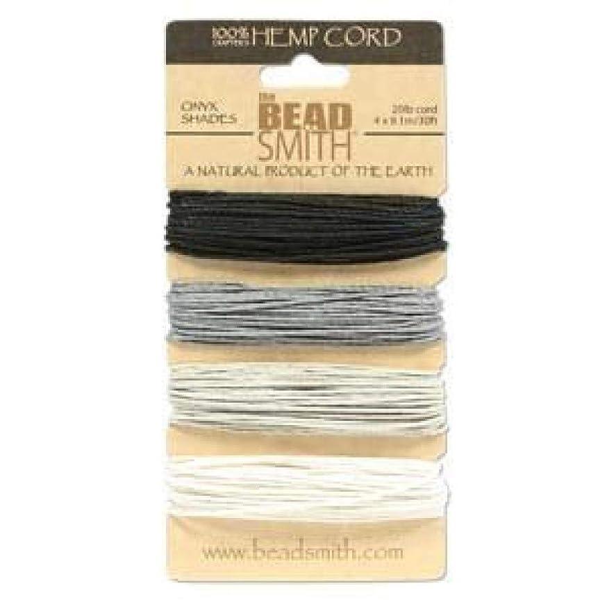 Hemp Twine Bead Cord 1.0mm - Onyx Colors App 30 Feet