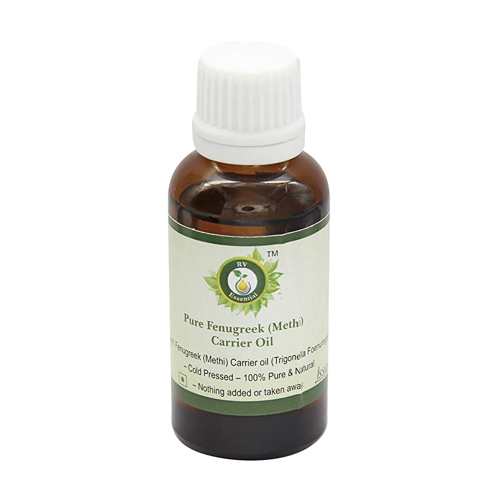 触覚物理的にオレンジR V Essential 純粋なフェヌグリーク(Methi)キャリアオイル30ml (1.01oz)- Trigonella Foenumgraecum (100%ピュア&ナチュラルコールドPressed) Pure Fenugreek (Methi) Carrier Oil