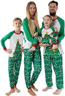 K-Youth Ropa para Padres e Hijos Pijamas de Navidad Familiar Conjuntos Bebe Niño Navidad Disfraz Ropa de Dormir Familiares...