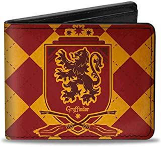"Buckle Down Men's Buckle-down Bifold Wallet Harry Potter Bi-Fold Wallet 4.0"" x 3.5"""