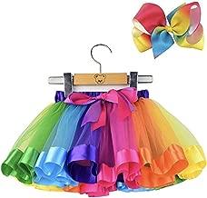 فستان تنكري للفتيات من Yalla Baby Girls من قطعتين من 5 إلى 8 سنوات - طقم تنورة وقوس للشعر، قوس قزح وزهري متعدد الألوان، يتميز بطبقات من الباليه