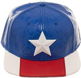 Suit Up Faux Leather Men's Hat Blue