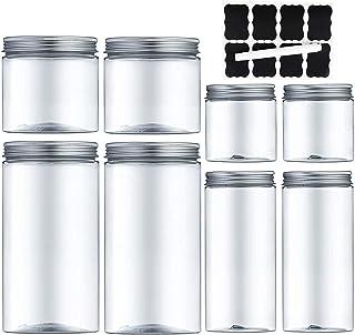 MEIXI Bocal Plastique Transparent, Bocaux en Plastique Pots de Stockage Récipient de Stockage en Plastique Récipient de St...