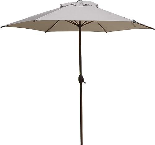 Abba Patio 9ft Patio Umbrella Outdoor Umbrella Patio Market Table Umbrella with Push Button Tilt and Crank for Garden...