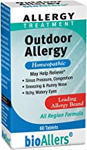 bioAllers Outdoor Allergy | All-Region Homeopathic Formula for Sinus Pressure, Congestion, Sneezing & Runny Nose, and Itch...