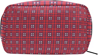 Plaid Red Cosmetic Bag Makeup Case Toiletry Pouch
