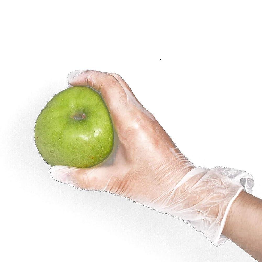 補う口頭割り込み[FJTK]使い捨て手袋 透明 100枚入 ホワイト  医療 美容 科学実験 (L)