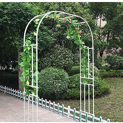 Lidengdeng Arco para jardín, Arco de Rosas Trepadoras, Garden Archway Enrejado de Acero, Metal Garden Arch, Outsunny Gazebo Cenador para Terraza Jardín Patio