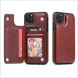 IPhone Case with Wallet Card Holder,Premium PU Leather Kickstand Card Slots Case,Double Magnetic Clasp and Durable Shockproof Cover