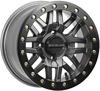 Raceline 17-18 CAN-AM MAVX3XRS Ryno Beadlock Wheel (Front / 14X7 / 4/137 5+2) (Gunmetal)