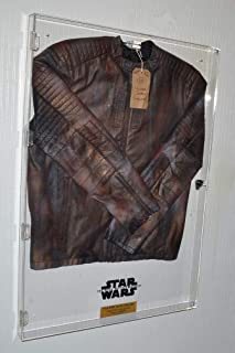 RARE Star Wars PROP Screen Used COSTUME JACKET, Rise of Skywalker Pinewood Tags, COA, UACC Large Plex display CASE