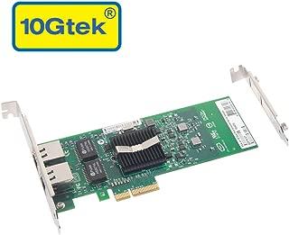 Gigabit LAN カード,インテル 82576純正ボード(チップ)実装, デュアル RJ45ポート, PCI-E 2.0 X1,E1G42ET,PCサーバ用