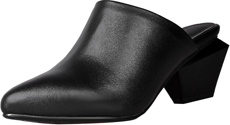 Calaier Womens Cadie Closed-Toe 5CM Block Heel Slip-on Mule shoes