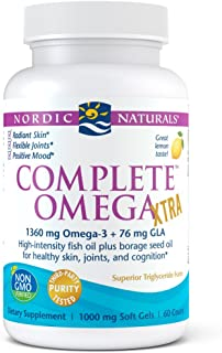 Nordic Naturals - Complete Omega Xtra, Optimal Support for Brain, Skin, Bones, and Joints, 60 Soft Gels