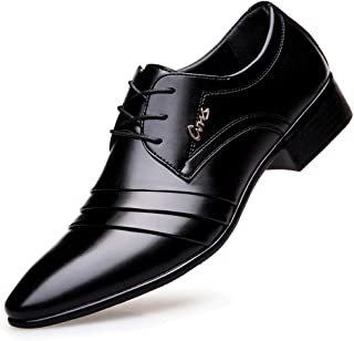 [ジョイジョイ] ビジネスシューズ メンズ レザーシューズ スリッポン 革靴 黒 プレーントゥ 大きいサイズ 紳士靴 営業マン 通勤 フォーマル シークレット ヒール6cm 防滑 軽量 カジュアル ドレープ